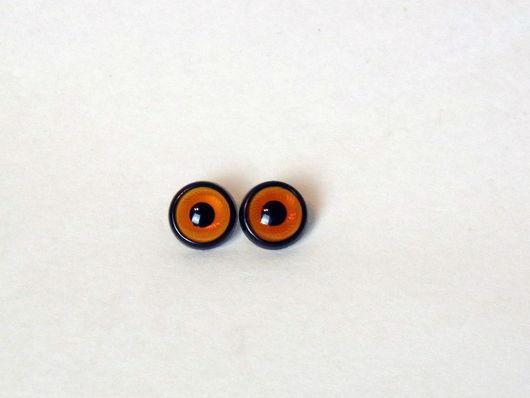 Куклы и игрушки ручной работы. Ярмарка Мастеров - ручная работа. Купить Глазки оранжевые пришивные для игрушечных сов. Handmade. Рыжий
