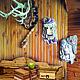 Маска Лесовика-лешего - замечательный оберег Вашего дома, сказочный сувенир, а также фольклорный декоративный элемент интерьера.  А также, маска Бабы-Яги, в представлении не нуждается