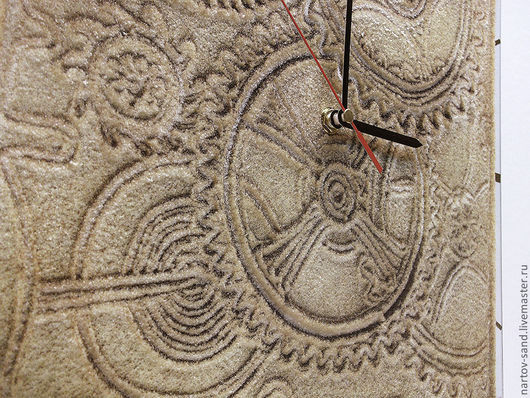 """Часы для дома ручной работы. Ярмарка Мастеров - ручная работа. Купить """"МЕХАНИКА ВЕКОВ"""" из песка часы авторские. Handmade. Бежевый"""