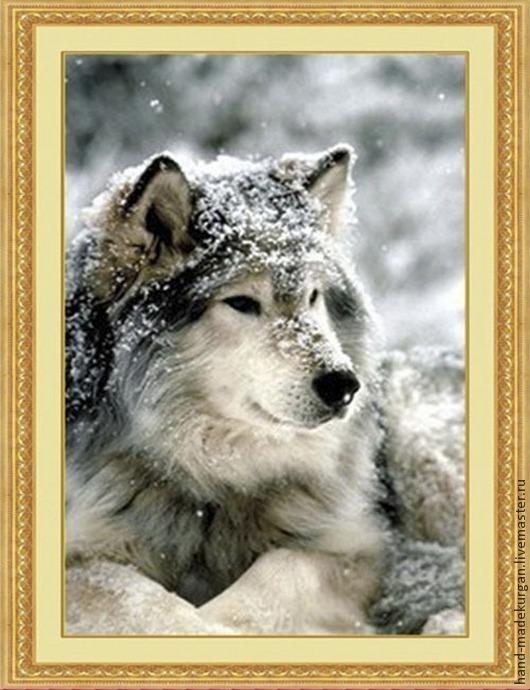 """Вышивка ручной работы. Ярмарка Мастеров - ручная работа. Купить Алмазная мозаика  """"Волк""""  Набор алмазная вышивка. Handmade."""