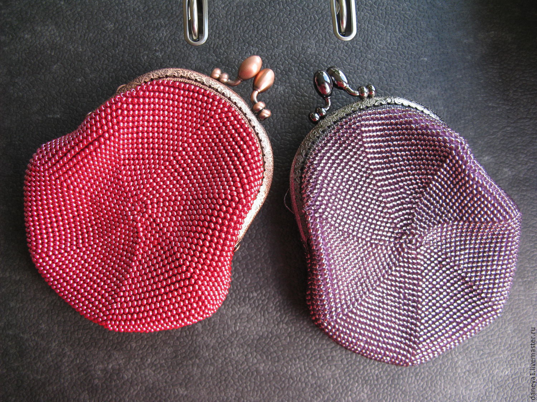 Вязание бисером кошелек с фермуаром 56