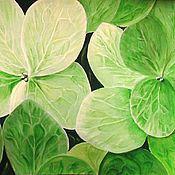 Картины и панно ручной работы. Ярмарка Мастеров - ручная работа Зеленые цветы (гортензия макро)Резерв. Handmade.