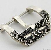 Часы наручные ручной работы. Ярмарка Мастеров - ручная работа Пряжка для часов (бакля) из серебра 24, 26 мм. Handmade.