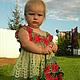 Одежда для девочек, ручной работы. Детское платье на возраст 1-2 года. Екатерина Ягодкина (lunnayadolina). Интернет-магазин Ярмарка Мастеров.