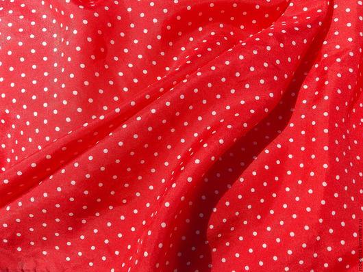 Винтажная одежда и аксессуары. Ярмарка Мастеров - ручная работа. Купить Платок в горошек. Шелк 100%. Handmade. Платок шелковый, винтаж