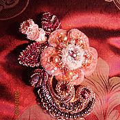 """Украшения ручной работы. Ярмарка Мастеров - ручная работа Брошь """" Morning Rose"""". Handmade."""