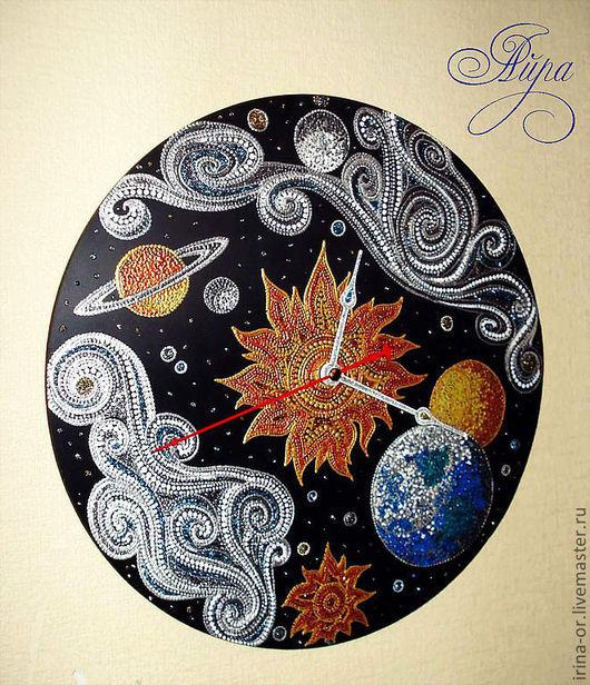"""Часы для дома ручной работы. Ярмарка Мастеров - ручная работа. Купить Часы """"Universe"""" (Вселенная). Handmade. Часы, Айра"""