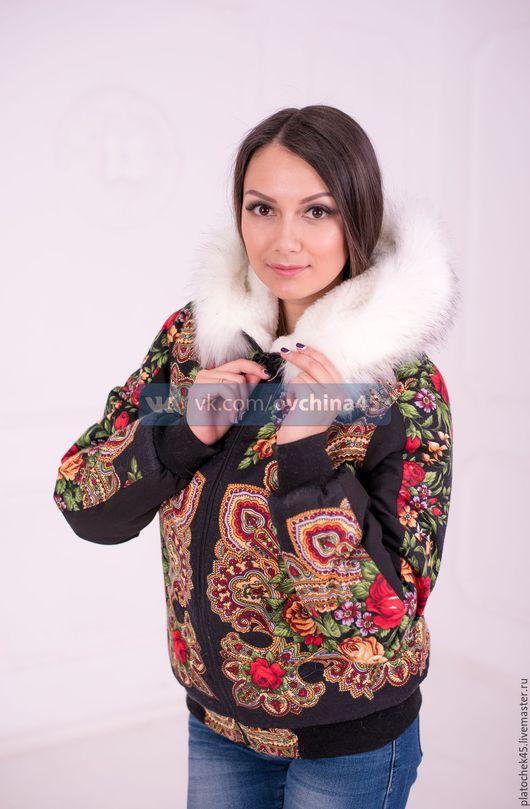 """Верхняя одежда ручной работы. Ярмарка Мастеров - ручная работа. Купить Куртка """"Незнакомка"""" с отделкой песцом. Handmade. Комбинированный"""