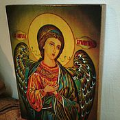 Картины и панно handmade. Livemaster - original item Guardian angel - written icons of the hot colors on the tree. Handmade.