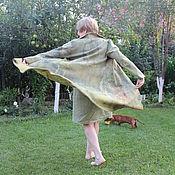 """Одежда ручной работы. Ярмарка Мастеров - ручная работа Кардиган валяный из шелка и шерсти """"Оливковая роща"""". Handmade."""