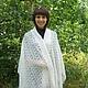 Шали, палантины ручной работы. Ярмарка Мастеров - ручная работа. Купить 97-палантин пуховый вязаный,шарф,оренбургский пуховый платок,шаль. Handmade.