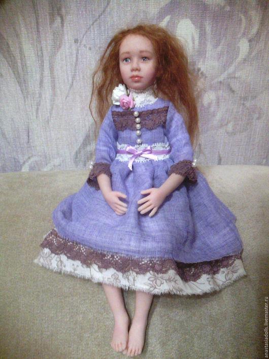 Коллекционные куклы ручной работы. Ярмарка Мастеров - ручная работа. Купить Кукла портретная. Handmade. Сиреневый, девочка