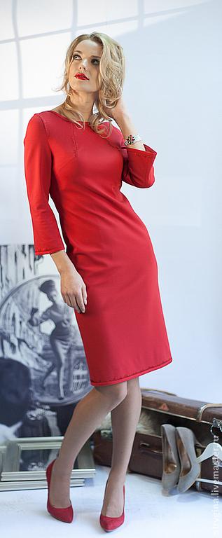 Платья ручной работы. Ярмарка Мастеров - ручная работа. Купить Платье  PARIS red. Handmade. Платье, на подкладке, Париж