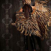 Одежда ручной работы. Ярмарка Мастеров - ручная работа пончо пестрое норка и лисица. Handmade.