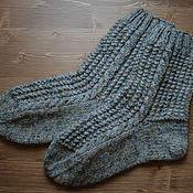 Аксессуары ручной работы. Ярмарка Мастеров - ручная работа Иссиня-серые носки с брутальным оттенком (схема). Handmade.