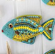 Украшения ручной работы. Ярмарка Мастеров - ручная работа Комплект брошей - рыбок Экзотика. Handmade.