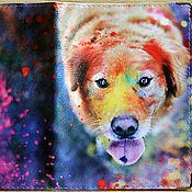 """Для домашних животных, ручной работы. Ярмарка Мастеров - ручная работа Вет.паспорт """"Красочный мир"""" (кожа). Handmade."""