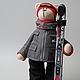 Куклы Тильды ручной работы. Ярмарка Мастеров - ручная работа. Купить Мишка - горнолыжник. Handmade. Тильда, подарок мужчине, горнолыжник