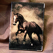 """Канцелярские товары ручной работы. Ярмарка Мастеров - ручная работа обложка """"Конь"""". Handmade."""