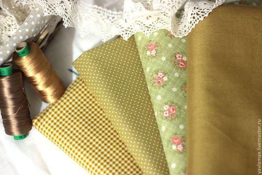 Шитье ручной работы. Ярмарка Мастеров - ручная работа. Купить Набор тканей для рукоделия Зеленый. Handmade. Ткань для рукоделия, ткань