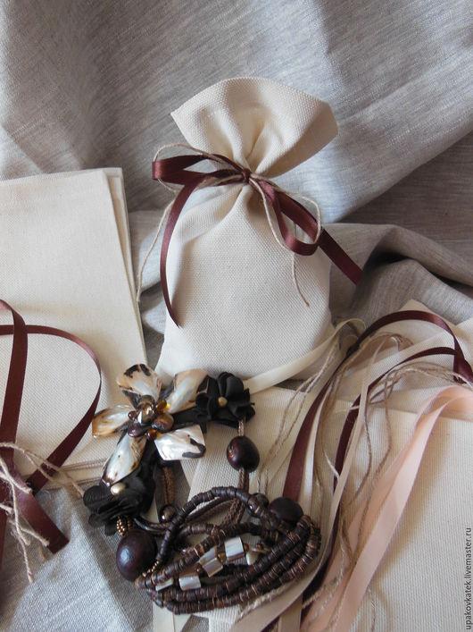 Подарочная упаковка ручной работы. Ярмарка Мастеров - ручная работа. Купить Подарочный мешочек, 14х23 см. Handmade. Белый