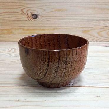 Посуда ручной работы. Ярмарка Мастеров - ручная работа Пиала деревянная унаби D13.Деревянная посуда. Handmade.