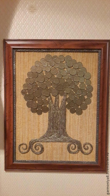 Символизм ручной работы. Ярмарка Мастеров - ручная работа. Купить Денежное дерево из монет. Handmade. Коричневый, денежное дерево монеты