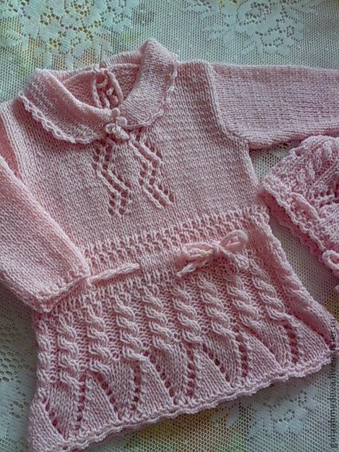 Ажурный комплект, детский наряд,ручной работы, детское платье, вязаный комплект,одежда для девочки, для новорожденной, нарядное платье,nодежда для малышки