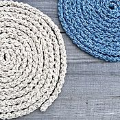 Украшения handmade. Livemaster - original item Kit Beads Scarf Long Knitted Braided Lariat Belt Blue Boho. Handmade.