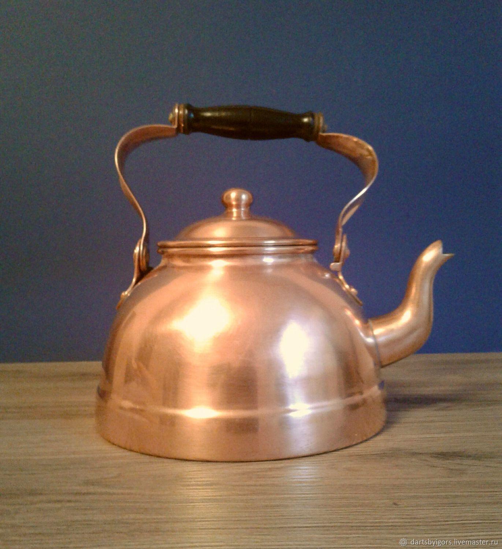 Винтаж: Медный чайник .Португалия, Чайники винтажные, Рига,  Фото №1
