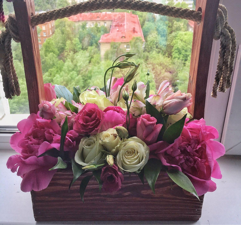Живые цветы собранные в букет