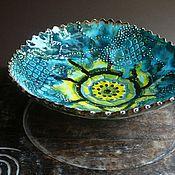 """Посуда ручной работы. Ярмарка Мастеров - ручная работа """"Галактика"""", блюдо, керамика ручной работы. Handmade."""