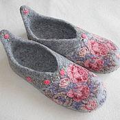 """Обувь ручной работы. Ярмарка Мастеров - ручная работа Тапочки """"Дуняша"""". Handmade."""