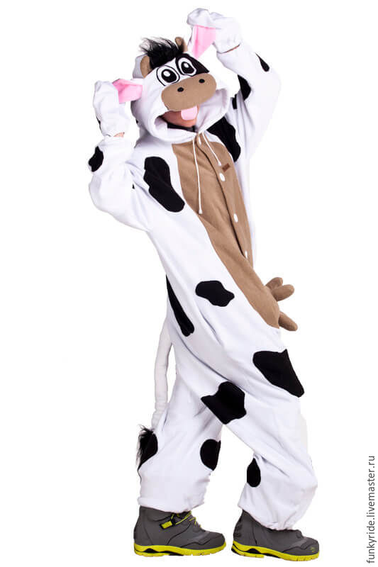 Костюм кигуруми флис Корова – купить в интернет-магазине на Ярмарке ... 7d033107078fa