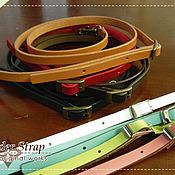 Материалы для творчества ручной работы. Ярмарка Мастеров - ручная работа Кожаный ремешок для сумки. Handmade.