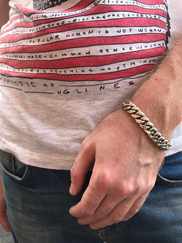 Мужской браслет Цепь2 из серебра 925 пробы