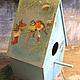 """Детская ручной работы. Ярмарка Мастеров - ручная работа. Купить Скворечник -Домик для птиц """"Зимние гости"""". Handmade. Домик для птиц"""