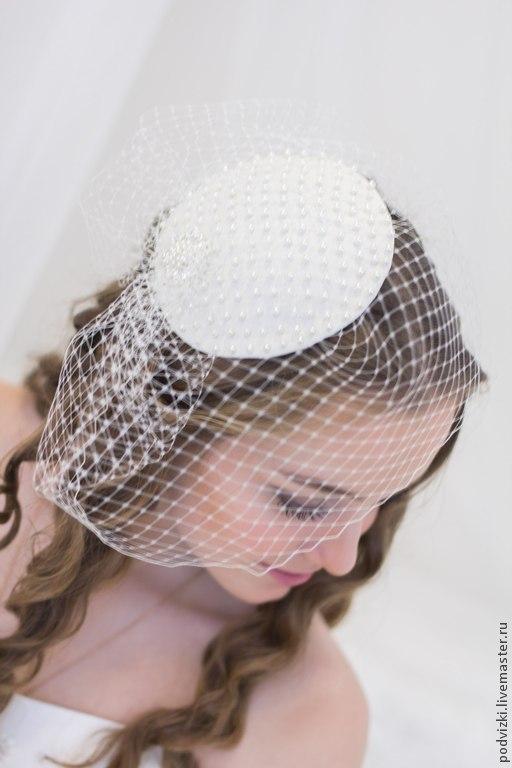 Свадебная шляпа   Шляпа для невесты Свадебная вуалетка  Свадебная шляпка  Шляпка невесты  Вечерняя шляпа  Шляпка  Вуалетка