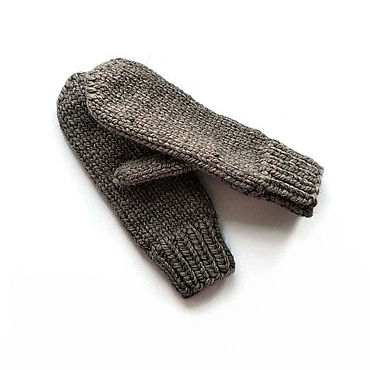 Аксессуары ручной работы. Ярмарка Мастеров - ручная работа Варежки вязаные из шерсти женские теплые. Handmade.