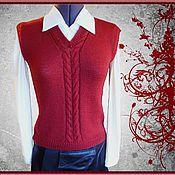 Одежда handmade. Livemaster - original item Vest knitted