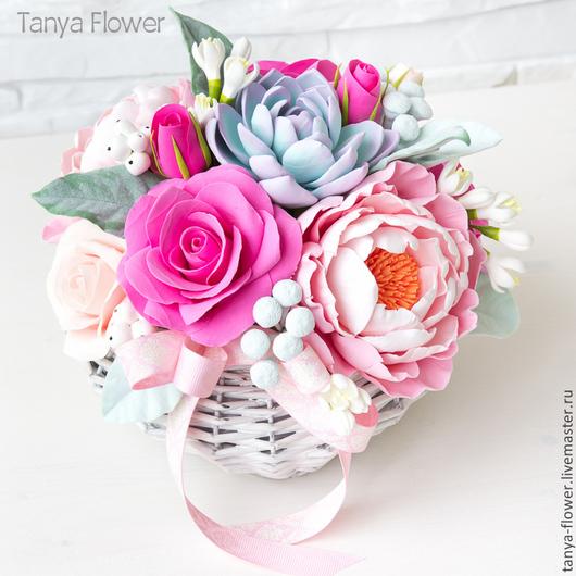 """Букеты ручной работы. Ярмарка Мастеров - ручная работа. Купить Букет """"Нежное утро"""". Handmade. Tanya flower, цветы в подарок"""