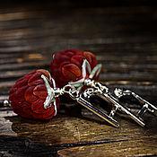 """Украшения ручной работы. Ярмарка Мастеров - ручная работа Серьги """"Лесная малина"""". Handmade."""
