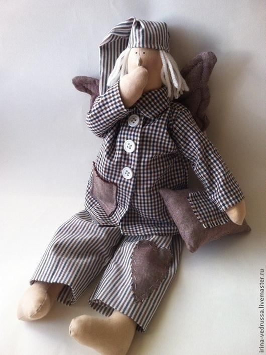 Куклы Тильды ручной работы. Ярмарка Мастеров - ручная работа. Купить Ангел Сна. Handmade. Коричневый, сплюшкин