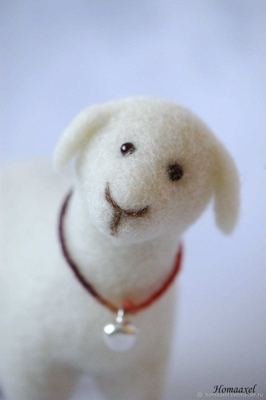 Felt toy White Sheep, Felted Toy, Heidelberg,  Фото №1