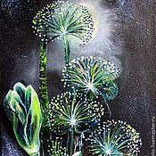 Картины и панно ручной работы. Ярмарка Мастеров - ручная работа Ночные цветы 2. Handmade.