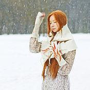 Аксессуары handmade. Livemaster - original item Handmade Felted scarf Winter sketches 1. Handmade.
