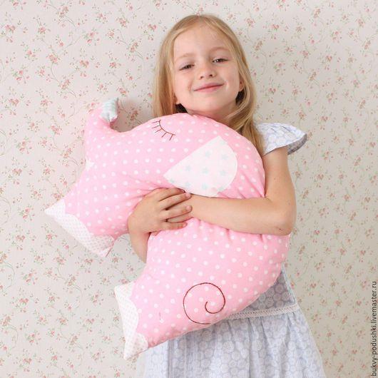 """Детская ручной работы. Ярмарка Мастеров - ручная работа. Купить Подушка слоник """"Сплюша"""". Handmade. Комбинированный, сплюшки, хлопок"""