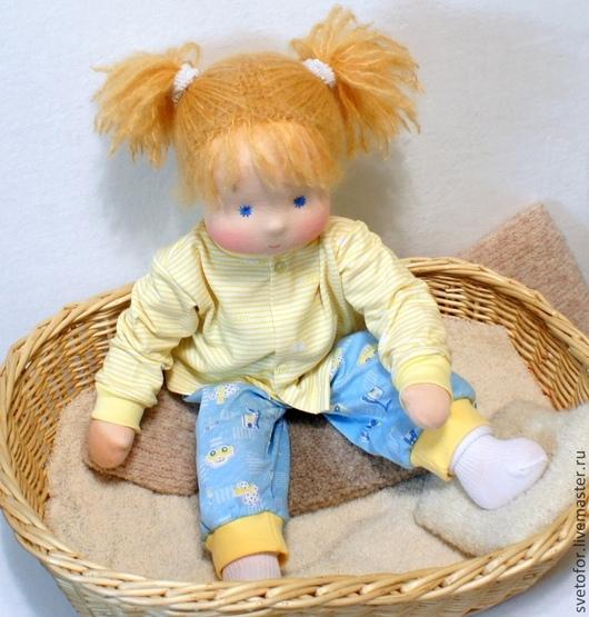 Вальдорфская игрушка ручной работы. Ярмарка Мастеров - ручная работа. Купить Лялечка для Даши, 50 см. Handmade. Желтый