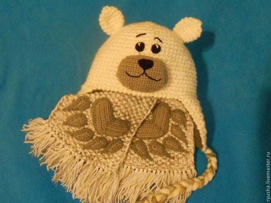 """Шапки и шарфы ручной работы. Ярмарка Мастеров - ручная работа. Купить Шапка и шарф для ребенка """" Умка"""". Handmade."""