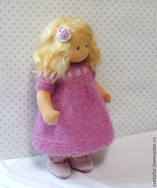 Вальдорфская игрушка ручной работы. Ярмарка Мастеров - ручная работа. Купить Куколка для Юли, 29 см. Handmade. Брусничный, кукла